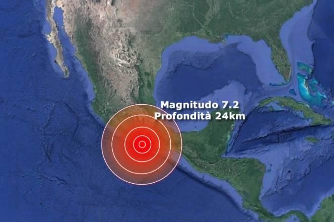 Violento terremoto in Messico di Magnitudo 7.2