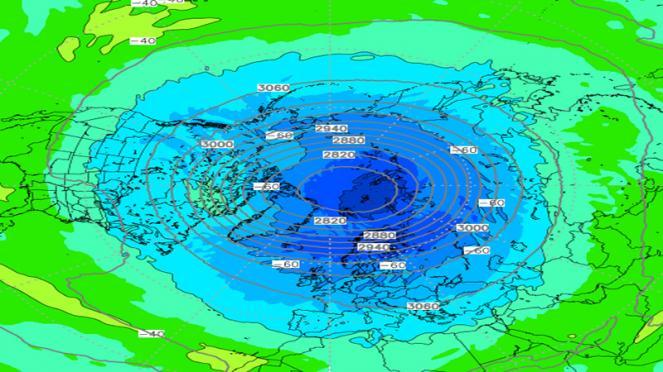 vortice polare compatto