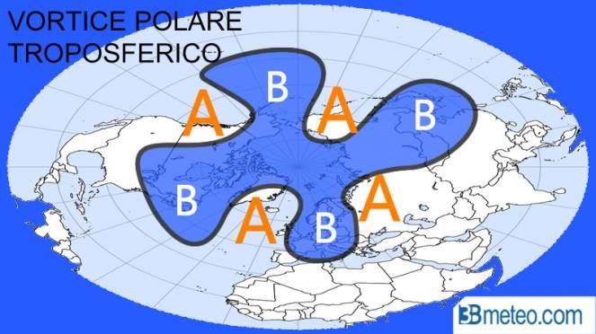Vortice polare troposferico debole
