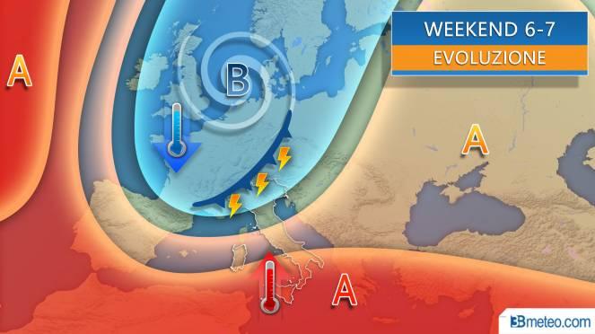 Weekend a rischio forti temporali e grandine al Nord
