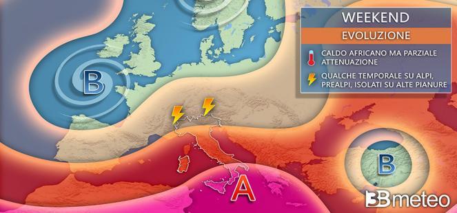 ⚠ WEEKEND tra SOLE, CALDO, AFA e qualche INSIDIA TEMPORALESCA: le aree a rischio