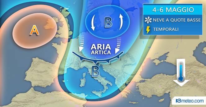 Weekend dal sapore invernale sull'Italia anche neve a bassa quota