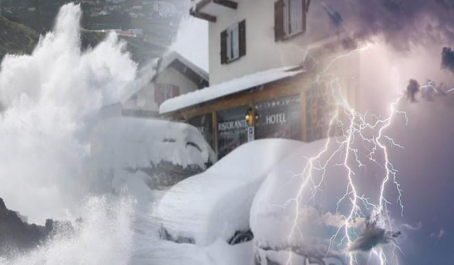Weekend di maltempo con burrasche di vento, neve copiosa sulle Alpi e nubifragi