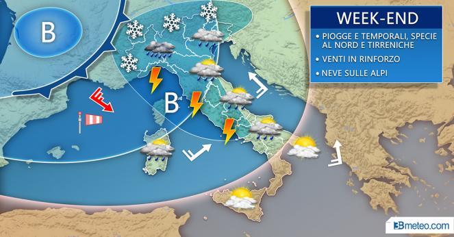 Weekend nuovo intenso peggioramento soprattutto al Nord