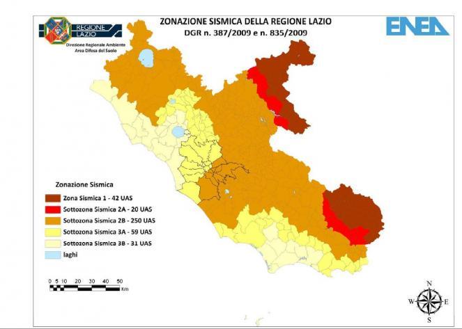 Zonazione sismica della regione lazio