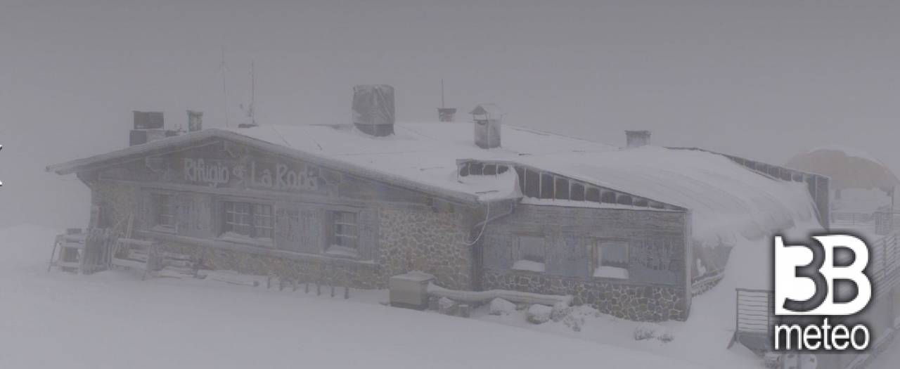 Forte nevicata in paganella