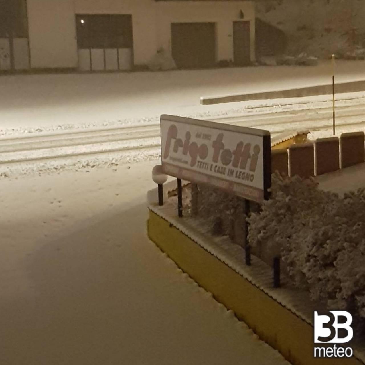 Finalmente la neve a canove di roana