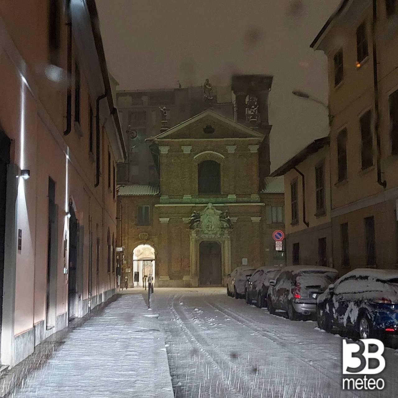 Neve a Monza