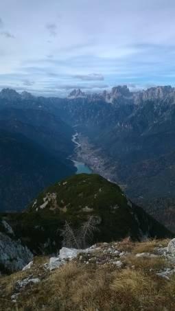 Vista di Auronzo dal M. Tudaio