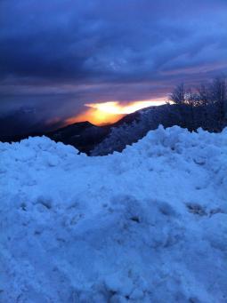 Tramonto Sulla Neve