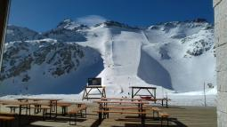 sciare sul ghiacciaio