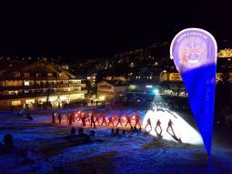 Evening laser-skishow - palmer slope ortisei