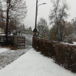 Nevicata in corso a bousson
