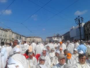 in attesa del S.Padre a Torino