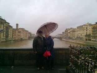 A Firenze sotto la pioggia