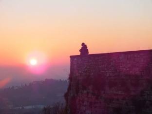 tramonto dalle mura