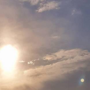 Il sole con qualche nuvoletta