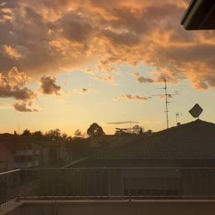Pioggia al tramonto