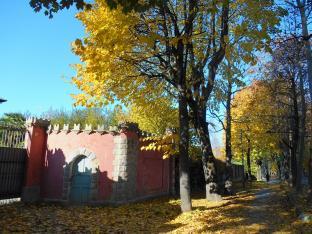 I colori d'autunno nel Viale Angeli di Cuneo