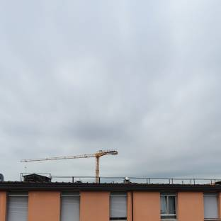Cielo nuvoloso su Novara
