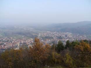 Panoramica su Bernezzo dalla Maddalena