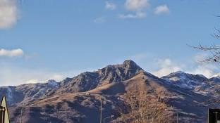 Vista verso le montagne biellesi Monte Mucrone