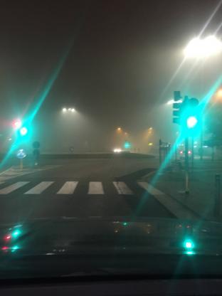 Nebbia anche in centro