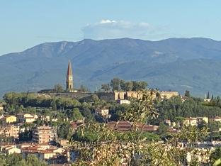Arezzo panorama mattutino.