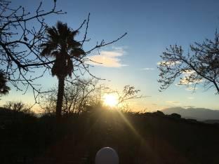 Isernia tramonto su mainarde