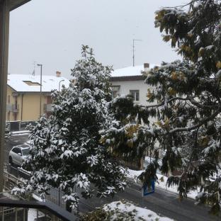 Neve in borgo roma