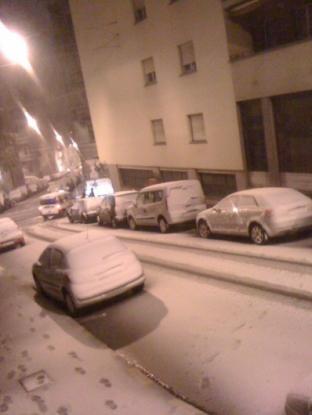 via gambini con neve