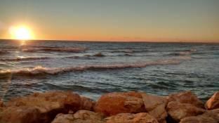 tramonto sul mare tra Latina e Sabaudia