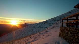 Tramonto sulla prima neve
