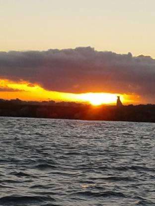tramonto del porto