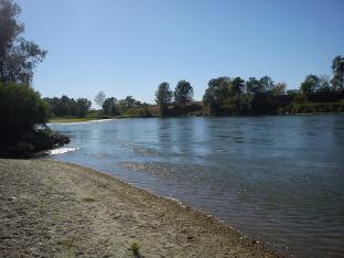 La spiaggia fluviale