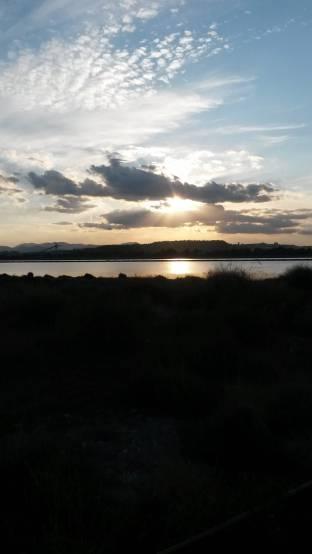 tramonto a molentargius