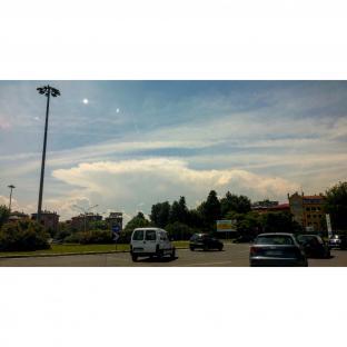 Nucleo temporalesco visto da Bologna