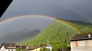 arcobaleno a SERTA Schilpario