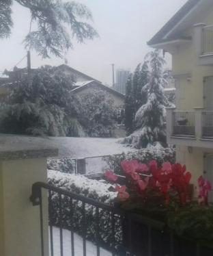 La prima neve a inverigo