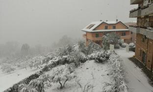 Neve a isernia vista castel romano salietto