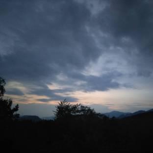 Nubi e tramonto