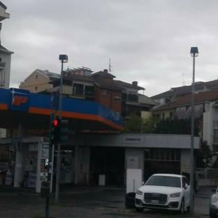 Torino dalla mia stazione di servizio.