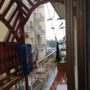 Pioggia torrenziale a lido