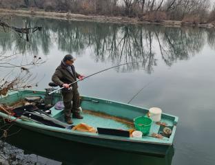 Pesca sul fiume adda