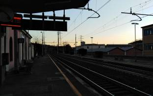 Tramonto alla stazione