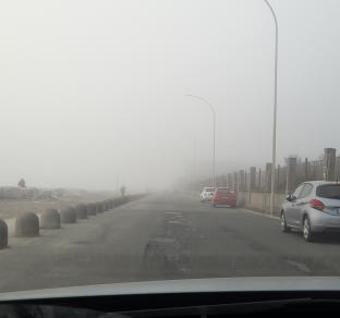 Nebbia sul mare