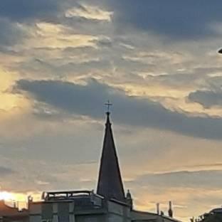 San mercuriale al tramonto