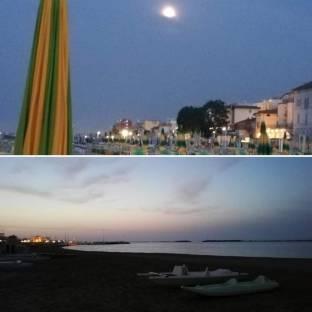 Luna piena bahia rico's al tramonto