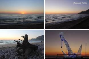 Il tramonto sulla piana di Sant'Agostino