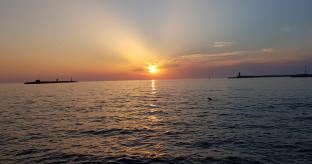 Livorno - tramonto dai bagni tirreno